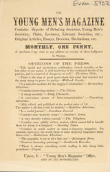 Advert for 'The Young Men's Magazine', periodical